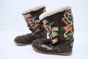 Don Ed Hardy Vintage Boots | Size UK2.5/3