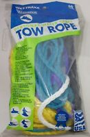 Tow Rope Boat Watercraft Wake Boarding Water Ski High Visibility Handle Floats