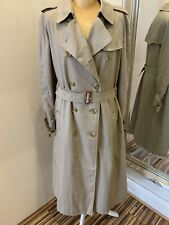 Ladies Vintage Burberry Trench Coat Size 12-14