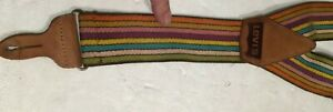 Nice Vintage LEVI'S Rainbow Button Suspenders with Leather Accents jeans pants