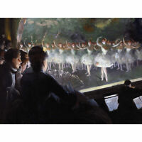 Shinn The White Ballet Dancers Theatre Painting Extra Large Art Poster