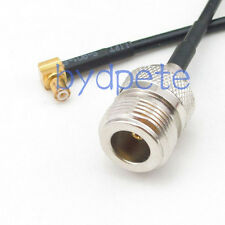 MCX male right angle 90 degree to N female jack RF Pigtail Coax RG174 Cable 15cm