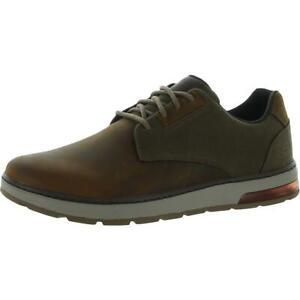 Skechers Mens Kondo Brown Leather Oxfords Sneakers 9.5 Medium (D) BHFO 6550
