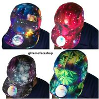 5 panel galaxy snapbacks, strap back flat peak caps, mens, ladies baseball hats