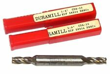 "LOT OF 2 NEW DURAMILL CDA-10 1/4"" END MILL, DOUBLE END, 56304"