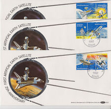 Benham Silk USA SPACE INFORMATION TECHNOLOGY 3 COVERS 1982 CAPE CANAVERAL