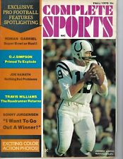 1970 Complete Sports football magazine Johnny Unitas Baltimore Colts Namath GOOD