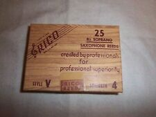 "Rico Vintage ""brown box"" soprano sax reeds #4 Sealed box of 25"