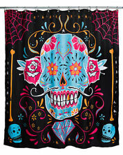 Too Fast Calavera Sugar Skull Day Of The Dead Punk Rock Skater Shower Curtain