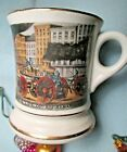 Vintage Mustache Cup THE LIFE OF A FIREMAN firefighting horse rescue mancave