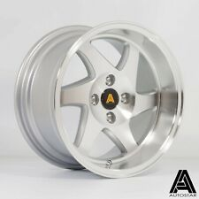 "2x Autostar Blade 15"" x8"" 4x100 et20 alloys fits Mazda Mx5 Honda Civic Polo Golf"