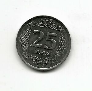 World Coins - Turkey 25 Kurus 2011 Coin KM# 1242