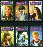 ALDERNEY 2006 THE ONCE & FUTURE KING SET OF ALL 6 COMMEMORATIVE STAMPS MNH