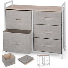5-Drawer Storage Fabric Organizer Cabinet 22LB Weight Fabric Simplicity design