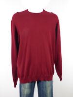 MÄRZ Herren Woll Pullover Gr 56 DE / Dunkelrot Neuwertig  ( R 2371 )