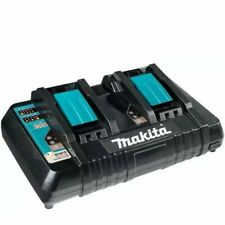 Makita Genuine Battery Dual Fast Charger 18v Lithium Ion DC18RD With USB Port