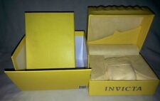 Invicta Large Yellow Wave Watch Box for Display and Storage.  New!  No tags.