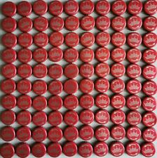 100 Beer Budweiser Red Bottle Tops / Caps - Arts and Crafts