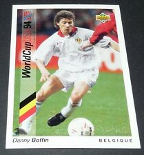 BOFFIN BELGIË BELGIQUE DIABLES FOOTBALL CARD UPPER DECK USA 94 PANINI 1994 WM94