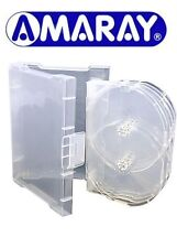 10 x 8 Way Clear Megapack DVD 32mm [8 Discs] New Empty Replacement Amaray Case