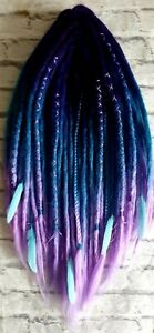 MERMAID... HAND CROCHETED DOUBLE ENDED SYNTHETIC DREADLOCKS