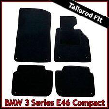 BMW 3-Series E46 Compacto 2000-2006 adaptado equipado Alfombra Coche Tapetes Negro