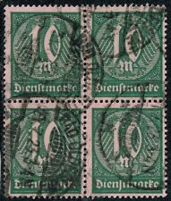 GERMANY 1921 OFFICIAL STAMP DIENST Mi. # 68 INFLATION USED BLOCK OF FOUR