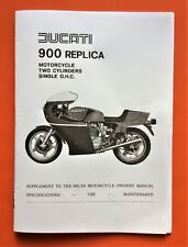 DUCATI 900 HAILWOOD REPLICA SUPPLEMENT TO 900 SS OWNERS MANUAL NOV 1979 COPY