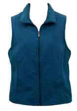 Columbia Women's Vest Turquoise Microfiber & Fleece Zip Up Size Medium EUC