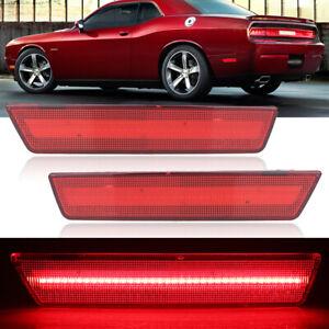 Rear Side Red LED Marker Light Lamps For 08-14 Dodge Challenger, 11-14 Charger