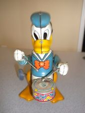 DISNEY 1950s DONALD DUCK THE DRUMMER - WIND UP TOY - WORKS - EXCELLENT