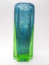 Benny Motzfeldt Randsfjord Norway Blue & Green Cased Glass Vase c.1967