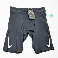 Nike Aeroswift Shorts Men's Running Training Sport Gym Black White AR3246-010