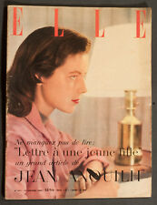 'ELLE' FRENCH VINTAGE MAGAZINE NICOLE COVER THEATER ISSUE 31 JANUARY 1955