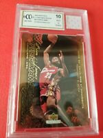 LEBRON JAMES Rookie CARD #50 GRADED BECKETT 10 & GAME USED JERSEY PIECE LAKERS