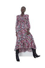 Zara vestido estampado floral con volantes Talla XS