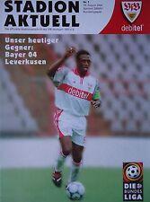 Programm 2000/01 VfB Stuttgart - Bayer Leverkusen