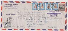 SRI LANKA - US Embassy cover to USA, 28 Oct 1961 (A4)