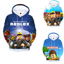 Boys Girl Kids ROBLOX Cartoon 3D Printing Hoodie Spring Fall Sweatshirt Pullover