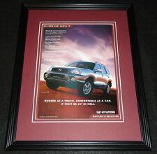 2001 Hyundai Santa Fe Framed 11x14 ORIGINAL Advertisement