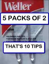 (5 PACKS OF 2) Weller 7250W Standard Soldering tips 2/per pack for D550/D650GUN