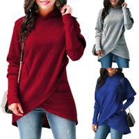 Jumper Sweater Womens Hoodies Dress Hooded Sleeve Tops Long Sweatshirt Pullover