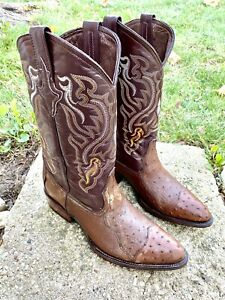 Mens Leather Cowboy Boots SIZE 10EE USA 🇺🇸