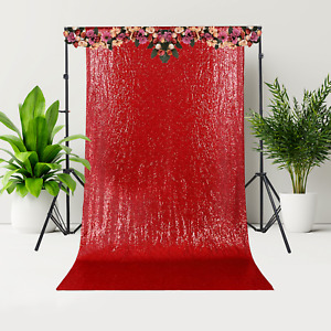 7ft Sequin Restaurant Curtain Wedding Backdrop Drape Party Photography Hanging