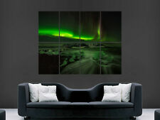 NORTHERN LIGHTS POSTER   ART WALL LARGE IMAGE GIANT ""