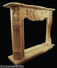 Fireplace Marble Silvia Gold Handcrafted Stone Handmade Old Design Home
