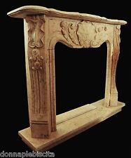 Camino Marmo Silvia Oro lavorato a mano Stone Fireplace Handmade Old Design Home