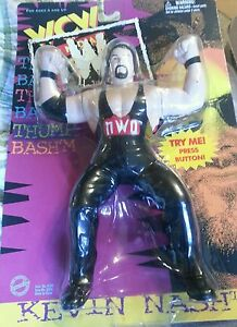 """1997 WCW NWO """"Monday NITRO"""" KEVIN NASH Vibrating Wrestling Action Figure"""