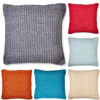 Luxury Chunky Chenille Knitted Cushion Covers or Filled Cushions