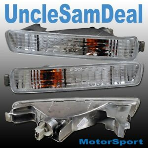 FOR 94-95 HONDA ACCORD FRONT BUMPER CORNER SIGNAL LIGHTS CHROME PAIR
